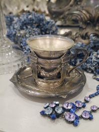 Silver Cup & Saucer (F3305-21)