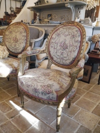 French Arm Chair (842-16) <ご売約済み>