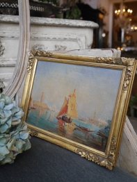 Antique Oil Painting (W4902-16)
