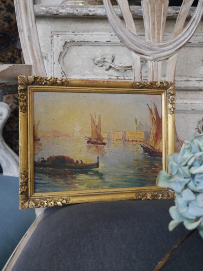 Antique Oil Painting (W4901-16)