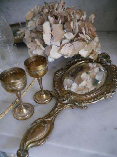 Antique Small Mirror (N144)