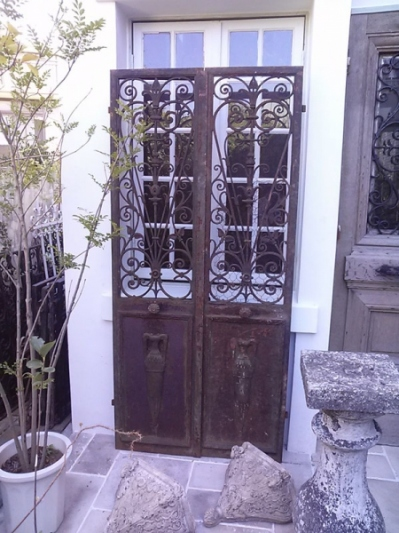 Pair of Iron Doors (F-1)