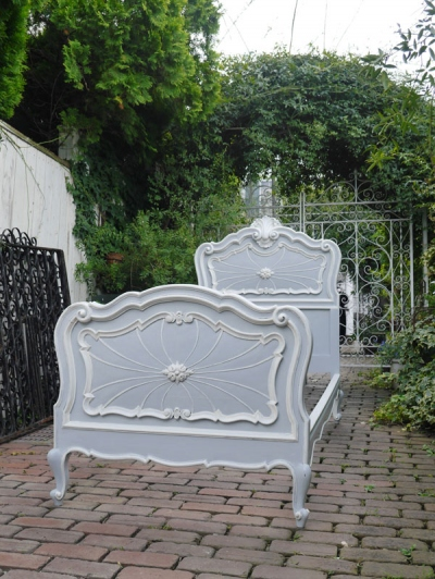 French Single Bed <bluegrey> (F-1)