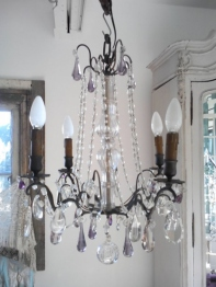 Crystal Chandelier <Purple> (F054)
